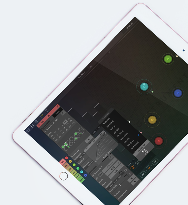 ipad with music-making app gestrument pro