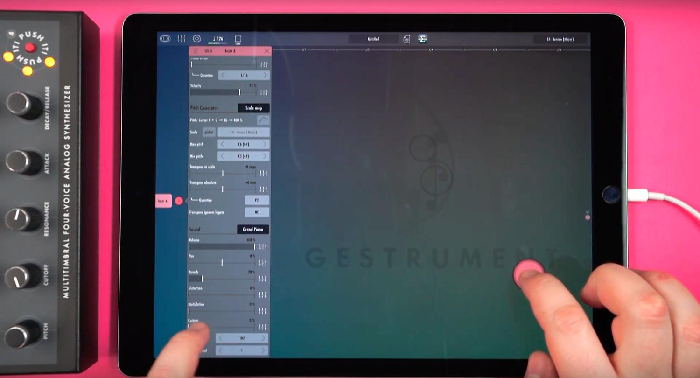 iPad with MIDI output